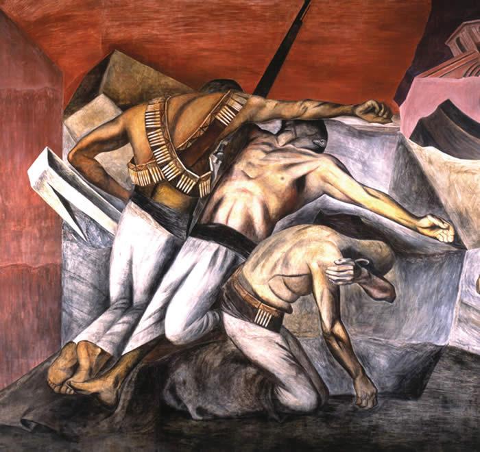 Antiguo colegio de san ildefonso for El hombre de fuego mural de jose clemente orozco